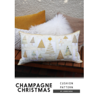 Champagne Christmas Cushion Pattern