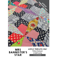 Mrs Bannister's Star Acrylic Template (ATO)