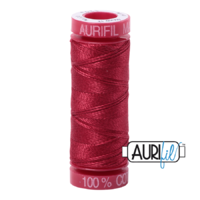 Aurifil 12wt Cotton Mako' 50m Spool - 1103 - Burgundy