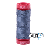 Aurifil 12wt Cotton Mako' 50m Spool - 1248 - Dark Grey Blue