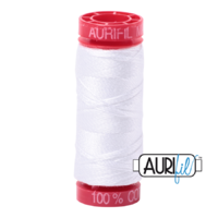 Aurifil 12wt Cotton Mako' 50m Spool - 2024 - White