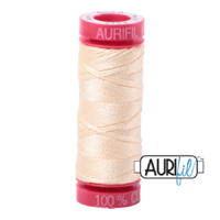 Aurifil 12wt Cotton Mako' 50m Spool - 2123 - Butter
