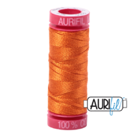 Aurifil 12wt Cotton Mako' 50m Spool - 2150 - Pumpkin