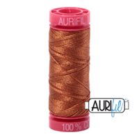 Aurifil 12wt Cotton Mako' 50m Spool - 2155 - Cinnamon