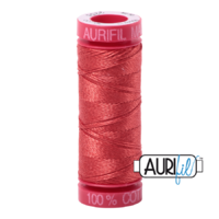 Aurifil 12wt Cotton Mako' 50m Spool - 2255 - Dark Red Orange