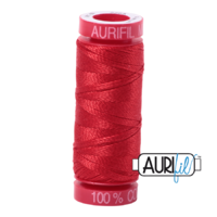 Aurifil 12wt Cotton Mako' 50m Spool - 2265 - Lobster Red