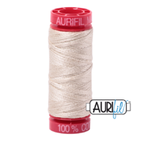 Aurifil 12wt Cotton Mako' 50m Spool - 2310 - Light Beige