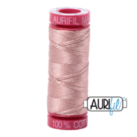 Aurifil 12wt Cotton Mako' 50m Spool - 2375 - Light Antique Blush