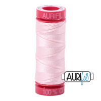 Aurifil 12wt Cotton Mako' 50m Spool - 2410 - Pale Pink