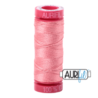 Aurifil 12wt Cotton Mako' 50m Spool - 2435 - Peachy Pink