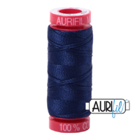 Aurifil 12wt Cotton Mako' 50m Spool - 2784 - Dark Navy