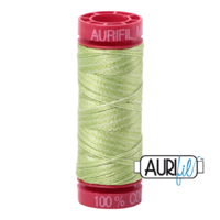 Aurifil 12wt Cotton Mako' 50m Spool - 3320 - Light Spring Green