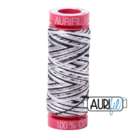 Aurifil 12wt Cotton Mako' 50m Spool - 4652 - Licorice Twist