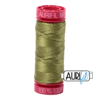 Aurifil 12wt Cotton Mako' 50m Spool - 5016 - Olive Green