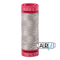 Aurifil 12wt Cotton Mako' 50m Spool - 5021 - Light Grey