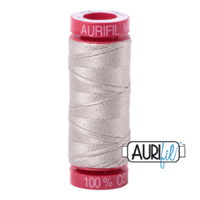 Aurifil 12wt Cotton Mako' 50m Spool - 6725 - Moondust