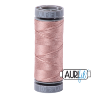 Aurifil 28wt Cotton Mako' 100m Spool - 2375 - Light Antique Blush