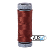 Aurifil 28wt Cotton Mako' 100m Spool - 4012 - Copper Brown