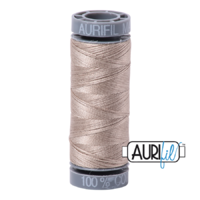 Aurifil 28wt Cotton Mako' 100m Spool - 5011 - Rope Beige