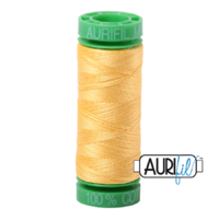 Aurifil 40wt Cotton Mako' 150m Spool - 1135 - Pale Yellow