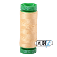 Aurifil 40wt Cotton Mako' 150m Spool - 2130 - Medium Butter
