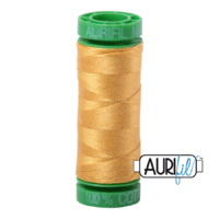 Aurifil 40wt Cotton Mako' 150m Spool - 2132 - Tarnished Gold