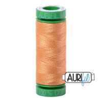 Aurifil 40wt Cotton Mako' 150m Spool - 2214 - Golden Honey