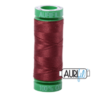 Aurifil 40wt Cotton Mako' 150m Spool - 2345 - Raisin