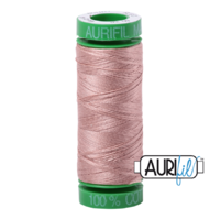 Aurifil 40wt Cotton Mako' 150m Spool - 2375 - Light Antique Blush