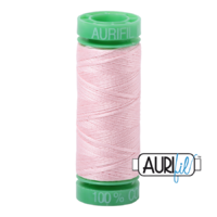 Aurifil 40wt Cotton Mako' 150m Spool - 2410 - Pale Pink