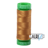 Aurifil 40wt Cotton Mako' 150m Spool - 2975 - Brass
