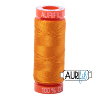 Aurifil 50wt Cotton Mako' 200m Spool - 2145 - Yellow Orange