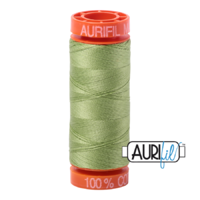 Aurifil 50wt Cotton Mako' 200m Spool - 2882 - Light Green