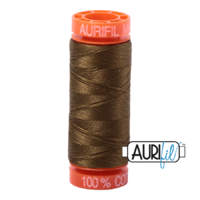 Aurifil 50wt Cotton Mako' 200m Spool - 4173 - Dark Olive