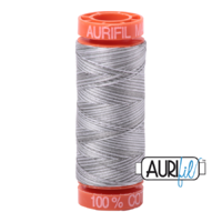 Aurifil 50wt Cotton Mako' 200m Spool - 4670 - Silver Fox