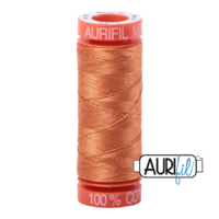 Aurifil 50wt Cotton Mako' 200m Spool - 5009 - Medium Orange