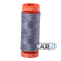 Aurifil 50wt Cotton Mako' 200m Spool - 6734 - Swallow
