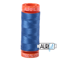 Aurifil 50wt Cotton Mako' 200m Spool - 6738 - Peacock Blue