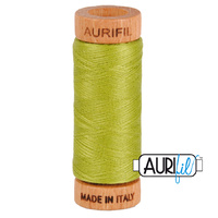 Aurifil 80wt Cotton Mako' 280m Spool - 1147 - Light Leaf Green