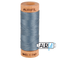 Aurifil 80wt Cotton Mako' 280m Spool - 1246 - Dark Grey