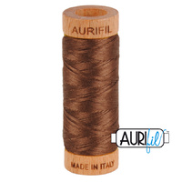 Aurifil 80wt Cotton Mako' 280m Spool - 1285 - Medium Bark