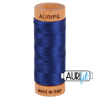 Aurifil 80wt Cotton Mako' 280m Spool - 2784 - Dark Navy