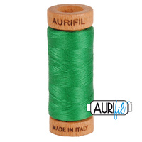 Aurifil 80wt Cotton Mako' 280m Spool - 2870 - Green