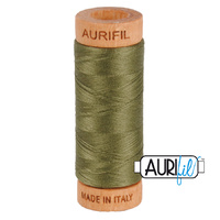 Aurifil 80wt Cotton Mako' 280m Spool - 2905 - Army Green