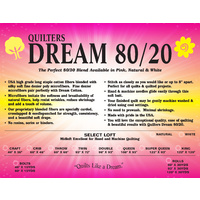 White Dream 80/20 Cotton/Poly Blend Queen