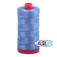 Aurifil 12wt Cotton Mako' 325m Spool - 1128 - Light Blue Violet