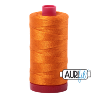 Aurifil 12wt Cotton Mako' 325m Spool - 1133 - Bright Orange