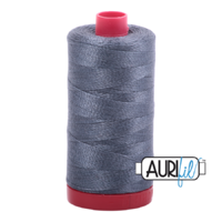 Aurifil 12wt Cotton Mako' 325m Spool - 1158 - Medium Grey