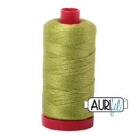 Aurifil 12wt Cotton Mako' 325m Spool - 1231 - Spring Green