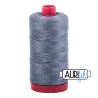 Aurifil 12wt Cotton Mako' 325m Spool - 1246 - Dark Grey